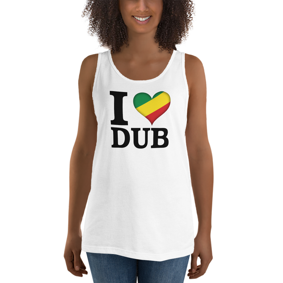 I ❤ DUB (RASTA/BLACK) — Women's Premium Tank Top