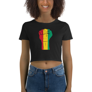 RAISED FIST 'GUINEA' — Women's Crop Tee