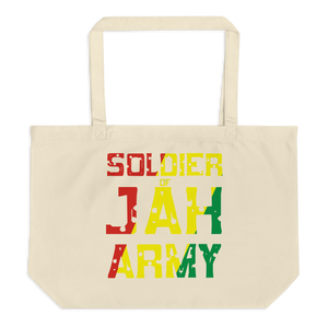 SOLDIER OF JAH ARMY (RASTA) — Organic Tote Bag