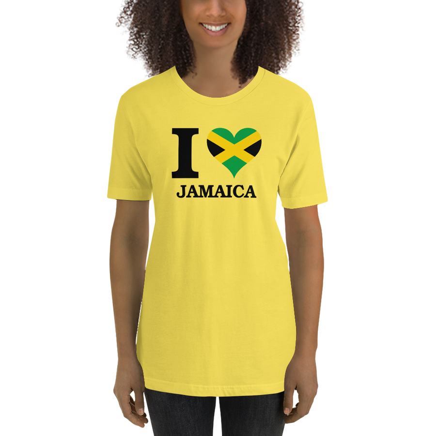 I ❤ JAMAICA (BLACK) — Women's Premium T-shirt