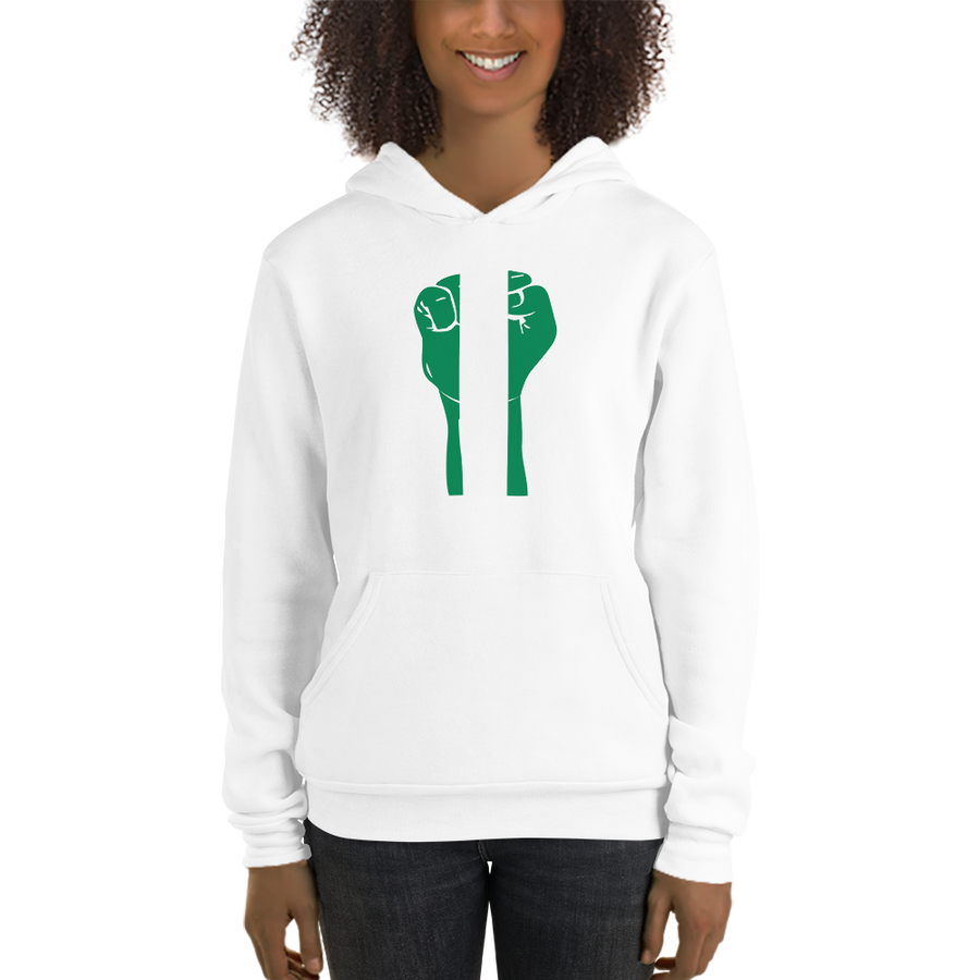 RAISED FIST 'NIGERIA' — Women's Pullover Hoodie