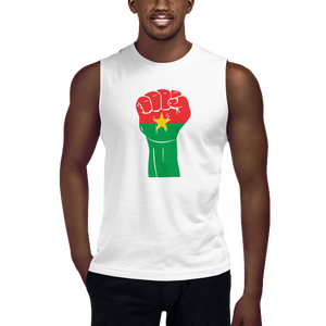 RAISED FIST 'BURKINA FASO' — Men's Muscle Shirt