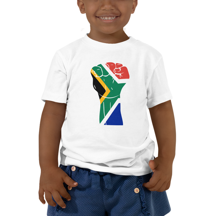 RAISED FIST 'SOUTH AFRICA' — Short-sleeved Toddler T-shirt