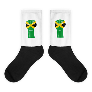 RAISED FIST 'JAMAICA' — Cushioned Socks