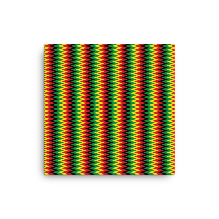 ASANTE KENTE 'ZIG-ZAG' (RASTA/BLACK) — Canvas print