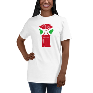 RAISED FIST 'BURUNDI' — Women's Organic T-shirt