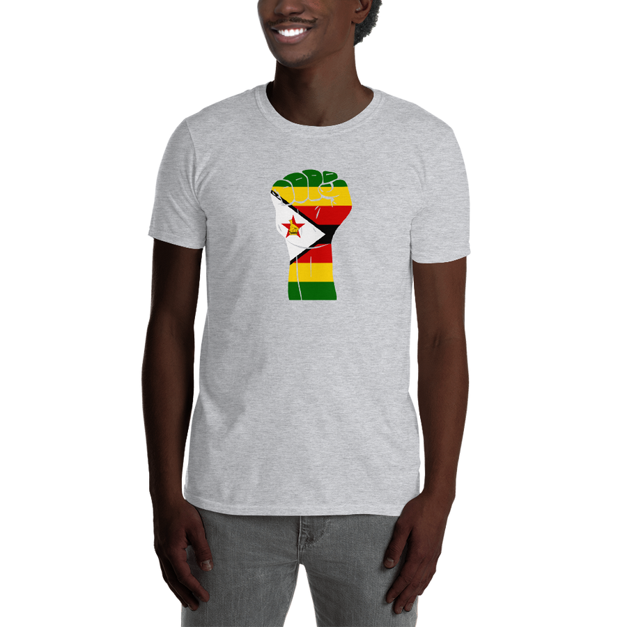 RAISED FIST 'ZIMBABWE' — Men's T-shirt