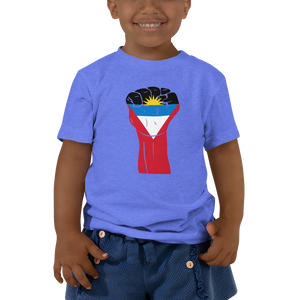 RAISED FIST 'ANTIGUA AND BARBUDA' — Short-sleeved Toddler T-shirt