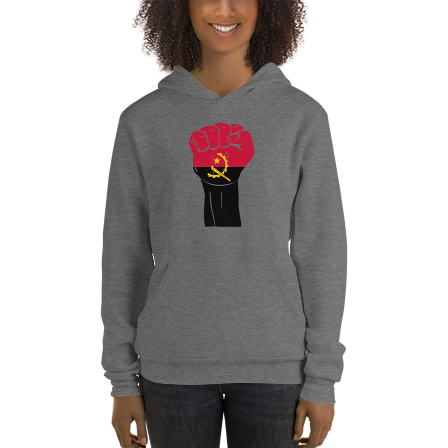 RAISED FIST 'ANGOLA' — Women's Pullover Hoodie
