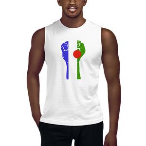 RAISED FIST 'BATWA' — Men's Muscle Shirt