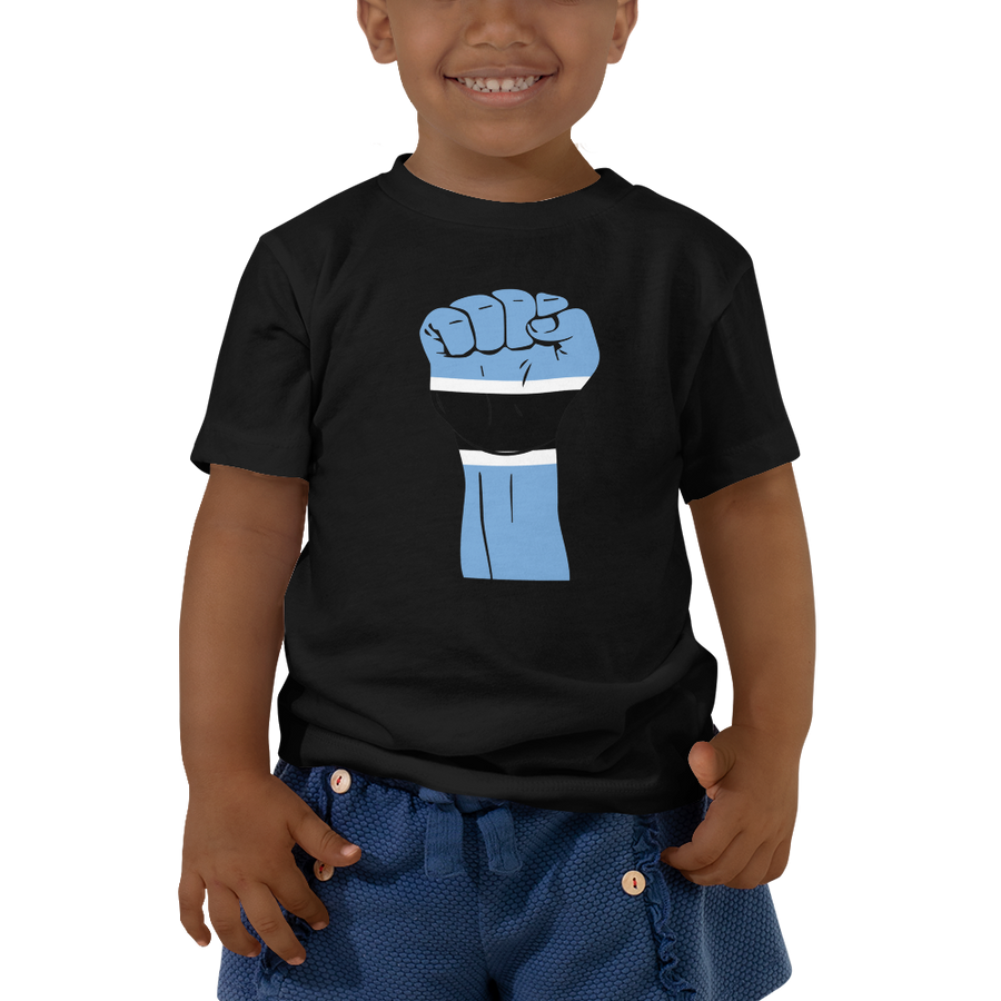 RAISED FIST 'BOTSWANA' — Short-sleeved Toddler T-shirt