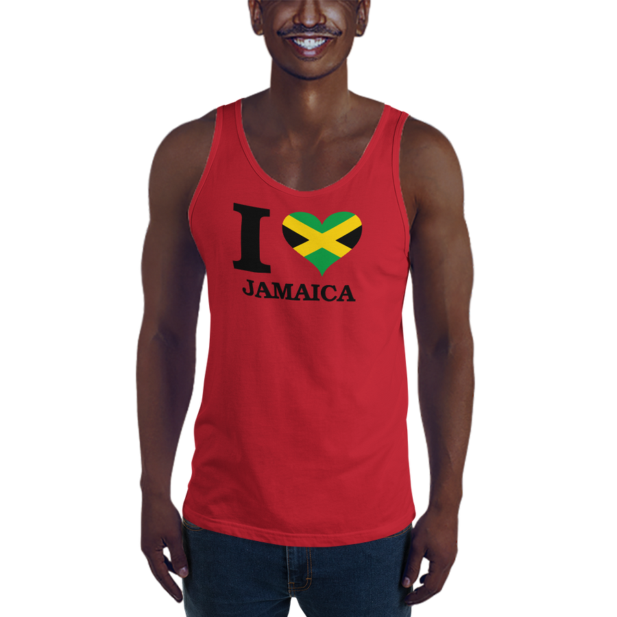 I ❤ JAMAICA (BLACK) — Men's Premium Tank Top