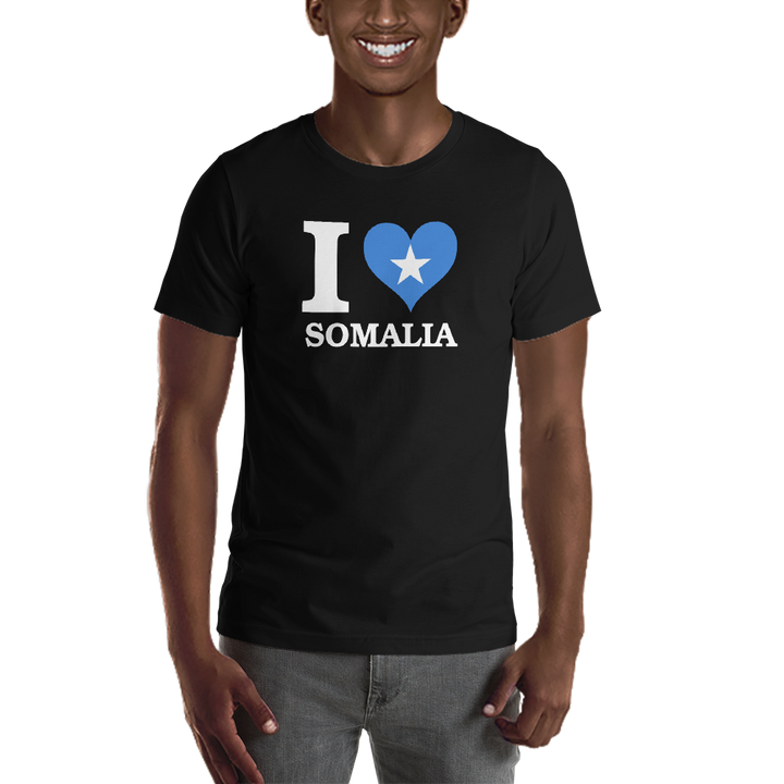 I ❤ SOMALIA (WHITE) — Men's Premium T-shirt