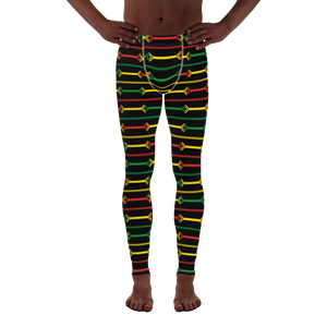 DOGON (BLACK/RASTA) — Hand-sewn Men's Leggings