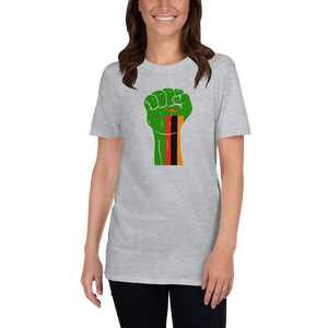 RAISED FIST 'ZAMBIA' — Women's T-shirt