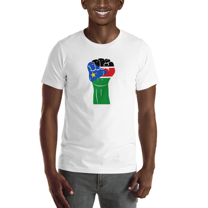 RAISED FIST 'SOUTH SUDAN' — Men's Premium T-shirt