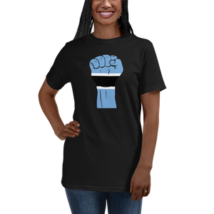 RAISED FIST 'BOTSWANA' — Women's Organic T-shirt