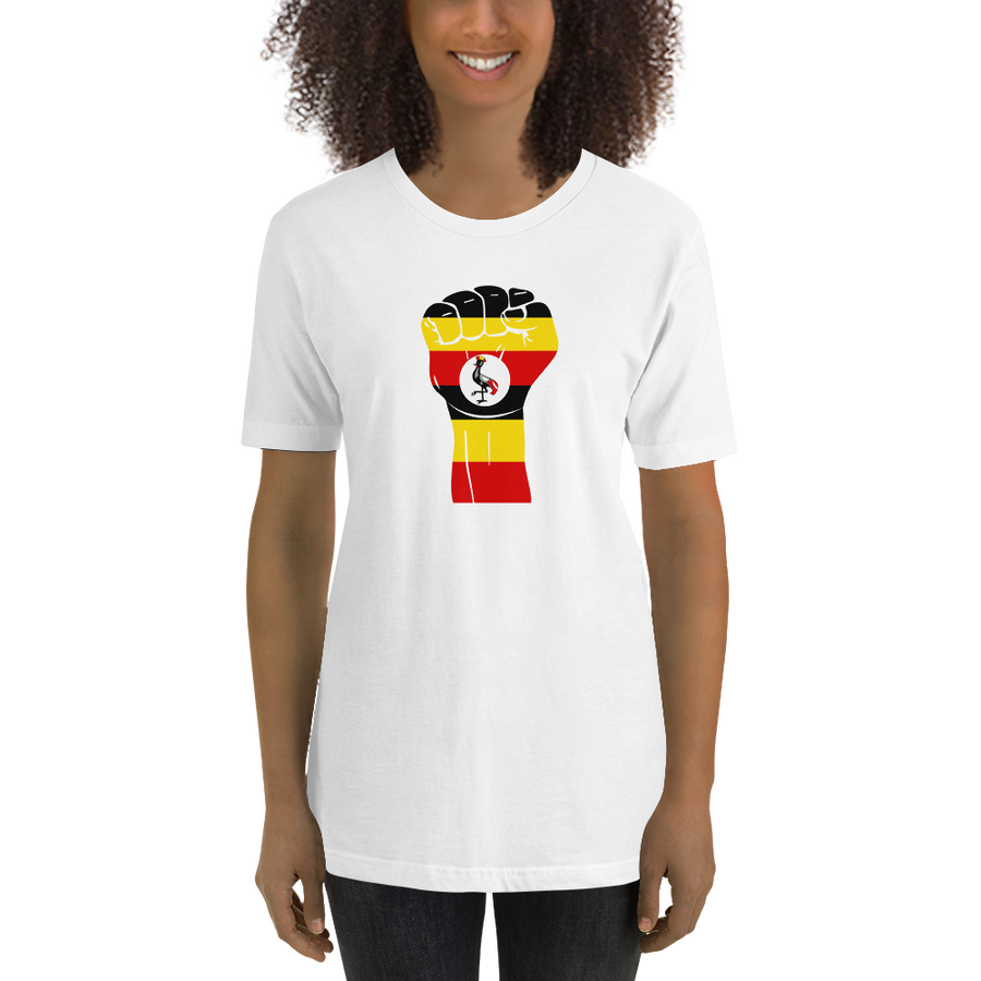 RAISED FIST 'UGANDA' — Women's Premium T-shirt