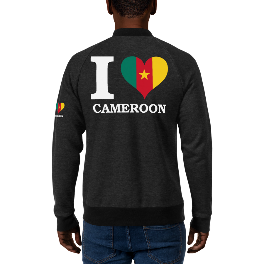 I ❤ CAMEROON (WHITE) — Men's Bomber Jacket