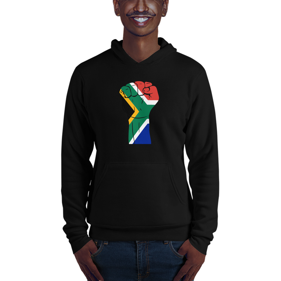 RAISED FIST 'SOUTH AFRICA' — Men's Pullover Hoodie
