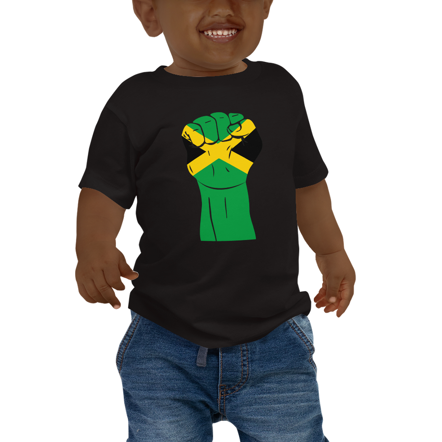 RAISED FIST 'JAMAICA' — Short-sleeved Baby T-shirt