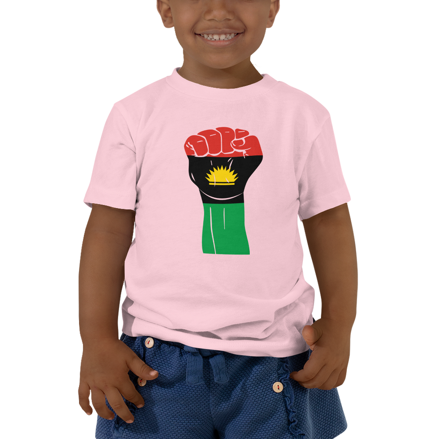 RAISED FIST 'BIAFRA' — Short-sleeved Toddler T-shirt