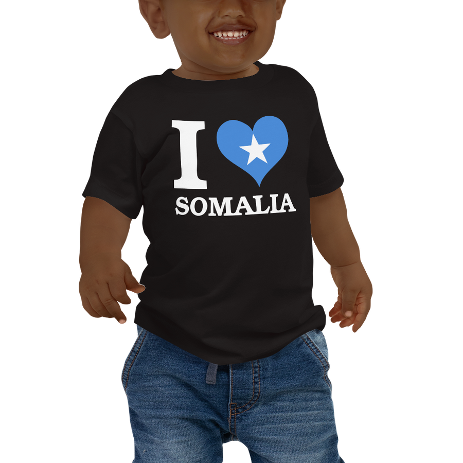 I ❤ SOMALIA (WHITE) — Short-sleeved Baby T-shirt