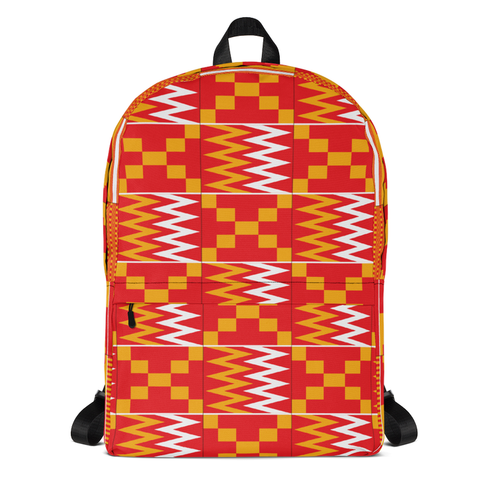 Asante Kente Print 'Aduonu nson' — Backpack