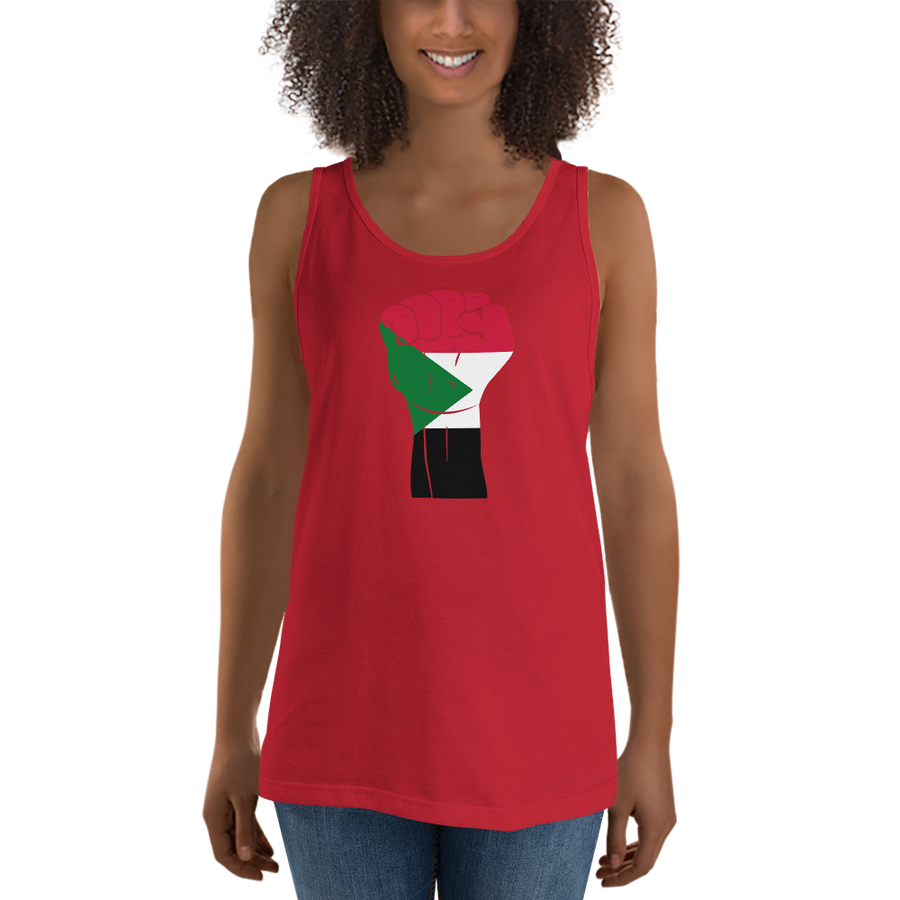RAISED FIST 'SUDAN' — Women's Premium Tank Top