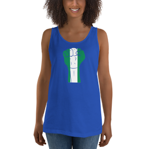 RAISED FIST 'NIGERIA' — Women's Premium Tank Top