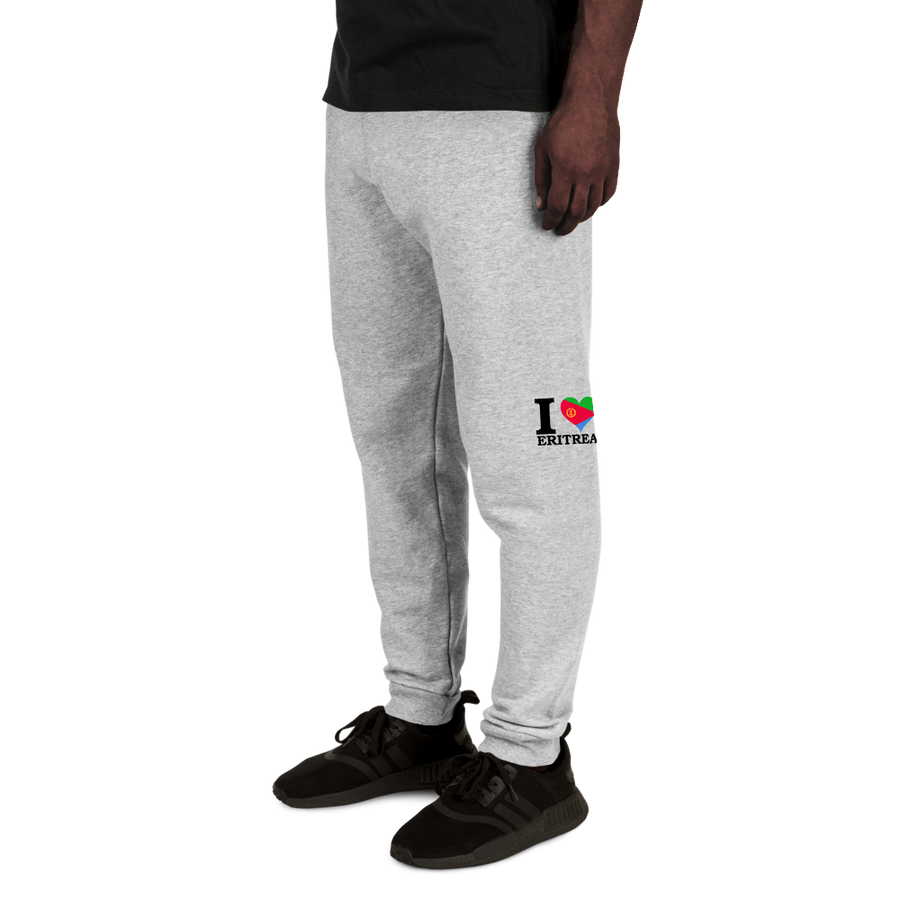 I ❤ ERITREA (BLACK) — Men's Sweatpants