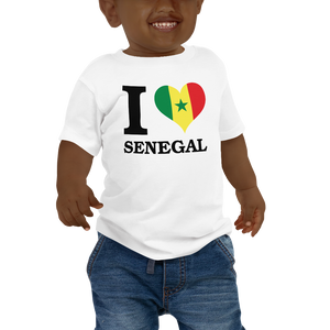 I ❤ SENEGAL (BLACK) — Short-sleeved Baby T-shirt