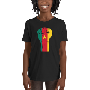 RAISED FIST 'CAMEROON' — Short-sleeved Youth T-shirt