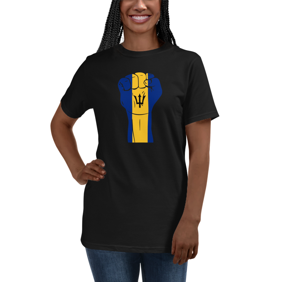 RAISED FIST 'BARBADOS' — Women's Organic T-shirt