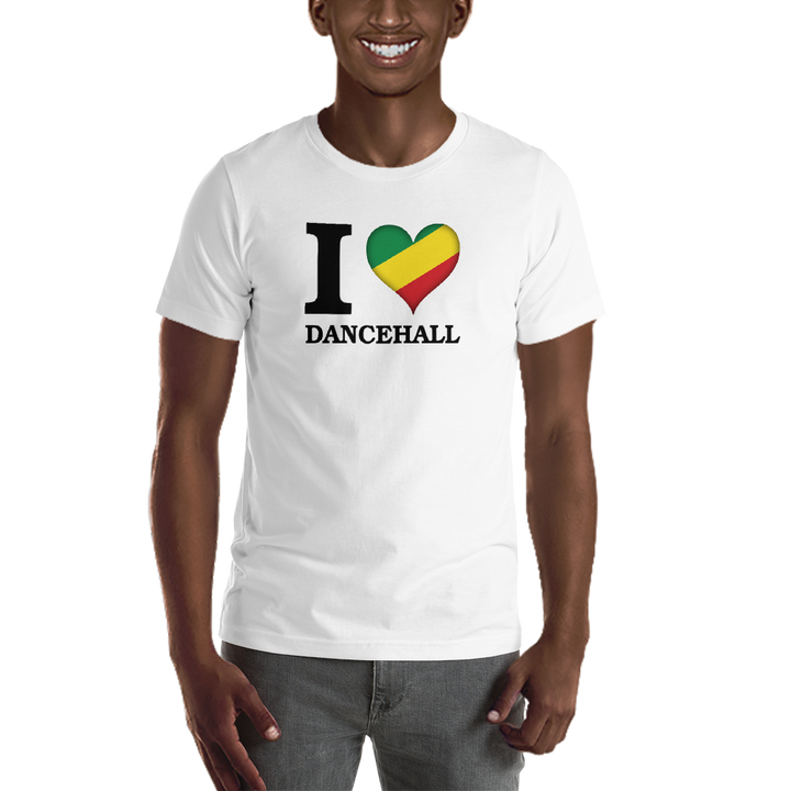 I ❤ DANCEHALL (RASTA/BLACK) — Men's Premium T-shirt