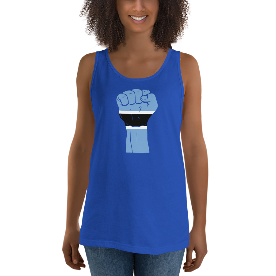 RAISED FIST 'BOTSWANA' — Women's Premium Tank Top