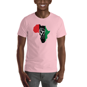 RAISED FIST 'AFRICA' (UNIA/WHITE) — Men's Premium T-shirt