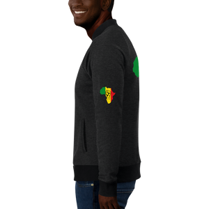 RAISED FIST 'AFRICA' (RASTA/BLACK) — Men's Bomber Jacket