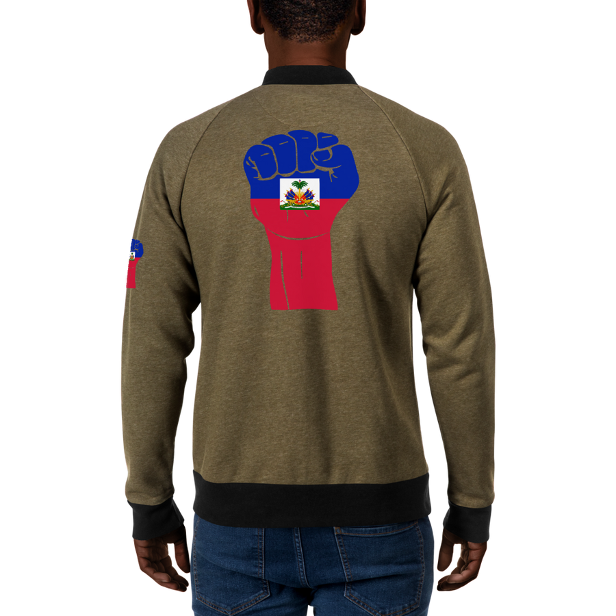RAISED FIST 'HAITI' — Men's Bomber Jacket