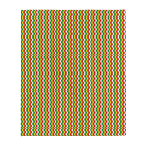 ASANTE KENTE 'ZIG-ZAG' (RASTA/WHITE)  — Throw Blanket