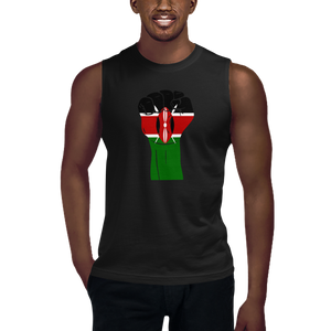 RAISED FIST 'KENYA' — Men's Muscle Shirt