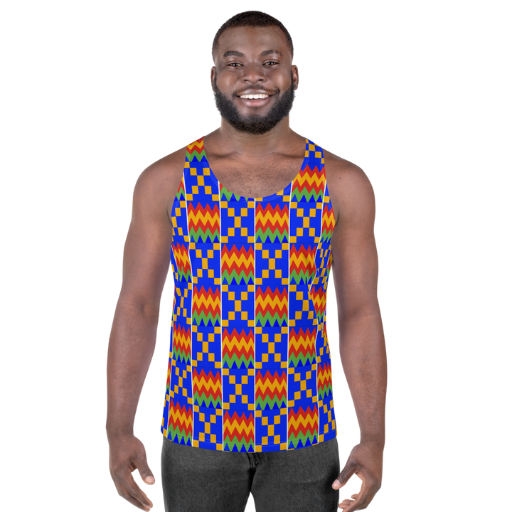 Asante Kente Print 'Aduonu' — Men's Tank Top