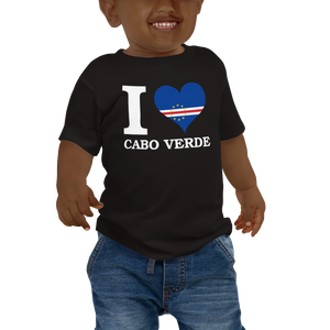 I ❤ CABO VERDE (WHITE) — Short-sleeved Baby T-shirt