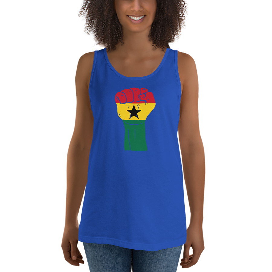 RAISED FIST 'GHANA' — Women's Premium Tank Top