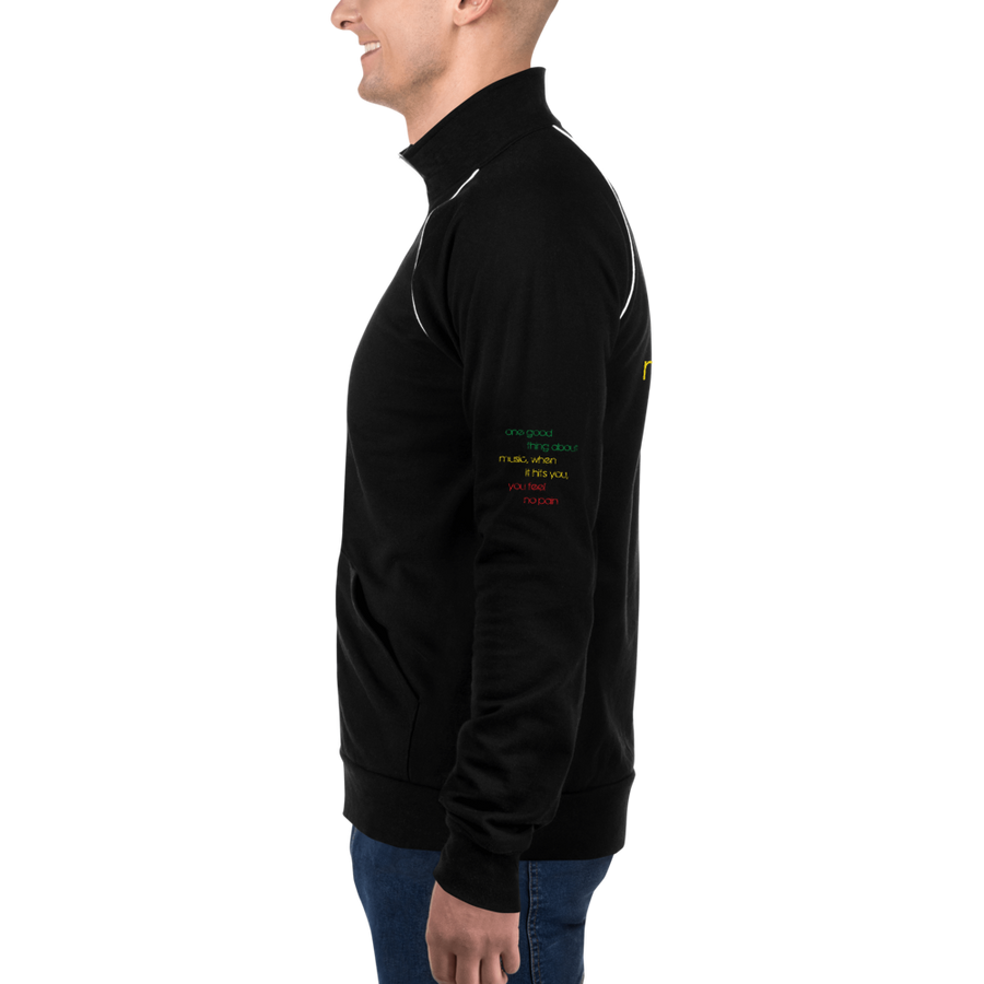 ONE GOOD THING (RASTA) — Men's Piped Fleece Jacket