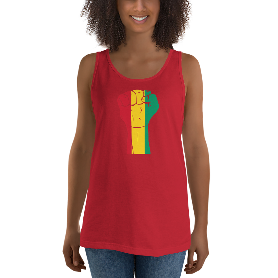 RAISED FIST 'GUINEA' — Women's Premium Tank Top