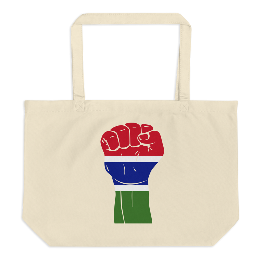 RAISED FIST 'THE GAMBIA' — Organic Tote Bag