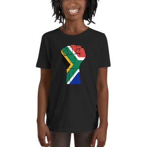 RAISED FIST 'SOUTH AFRICA' — Short-sleeved Youth T-shirt