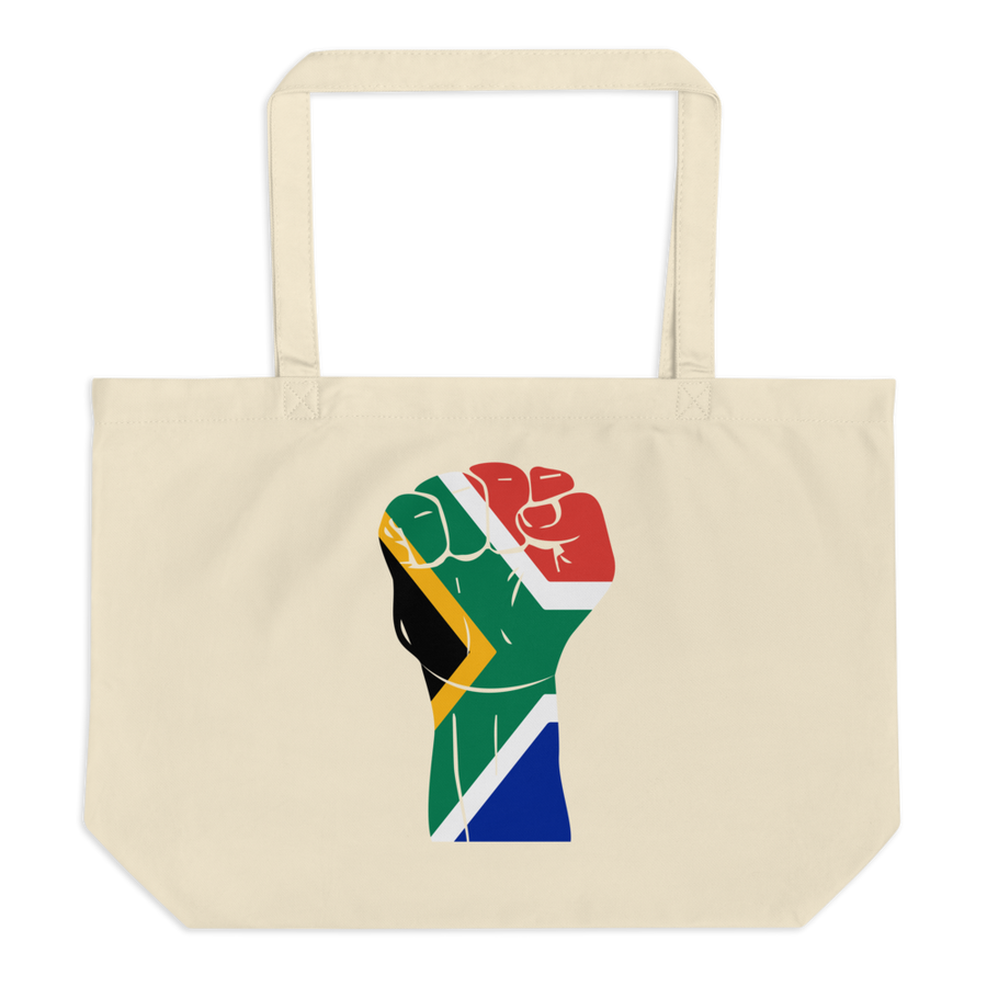 RAISED FIST 'SOUTH AFRICA' — Organic Tote Bag