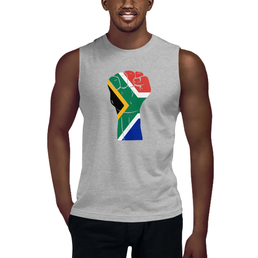 RAISED FIST 'SOUTH AFRICA' — Men's Muscle Shirt